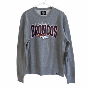 NWT 47 Brand Broncos Crewneck Sweatshirt Size Med
